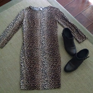 Sexy Forever 21 Form Fitting Leopard  Dress  Sm